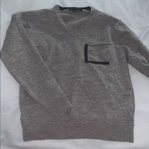 Grey French Connection V-neck sweater
